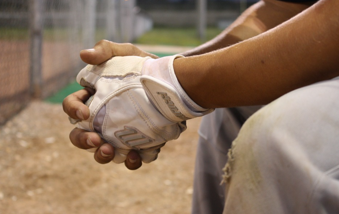 rukavice a muž